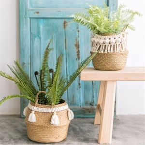 Other - Seagrass woven baskets with macrame ties